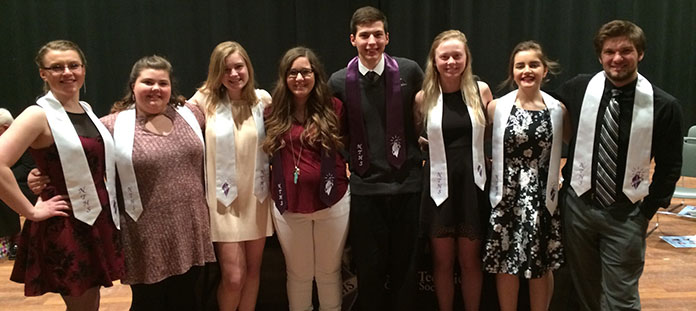 2017 National Technical Honor Society officers at the formal induction ceremony