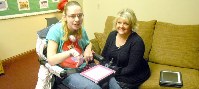 Picture of student receiving Assistive Technology