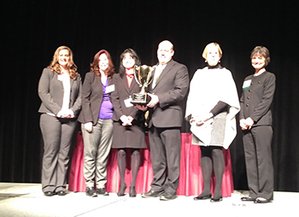 TBA Early College group with Excellence in Practice Award.