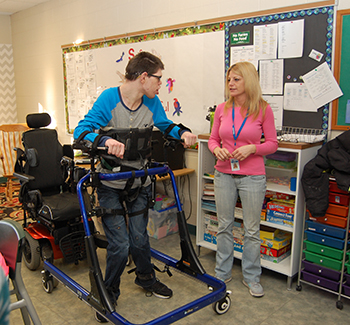 student learning to use Mobility Opportunities via Education.