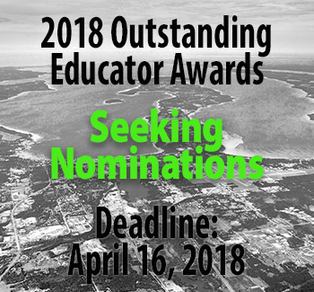 2018 outstanding educator awards nomination deadline April 16, 2018. Photo of Traverse Bay region.
